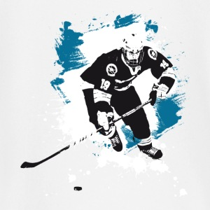 hockey puck hockey player attack polar bears sharks - Baby Long Sleeve T-Shirt