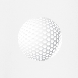 golf-ball round symbool enkele witte knop - T-shirt