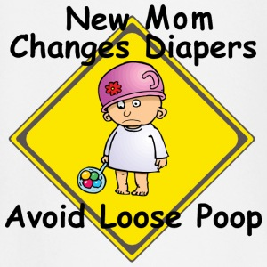 New Mom Changes Diapers Avoid Loose Poop - Baby Long Sleeve T-Shirt