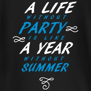 A Life without party is like a year without summer - Baby Langarmshirt