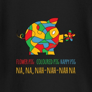 Happy colourfull flower pig - Baby Long Sleeve T-Shirt