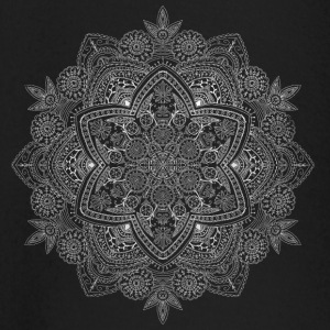 Mandala hand drawn in white - Baby Long Sleeve T-Shirt