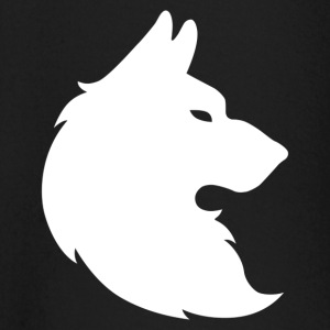DemonWolf blanco del logotipo - Camiseta manga larga bebé
