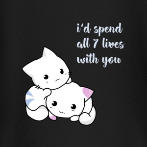 cat 7Leben love faithful manga fun cute girl baby L - Baby Long Sleeve T-Shirt