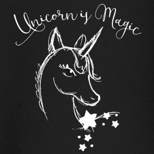 unicorn drawing white mystic filigree fairy Wonderland - Baby Long Sleeve T-Shirt