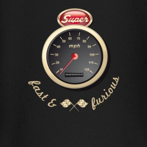 Gasoline Vintage Car car quickly Tacho Tuning km / h - Baby Long Sleeve T-Shirt