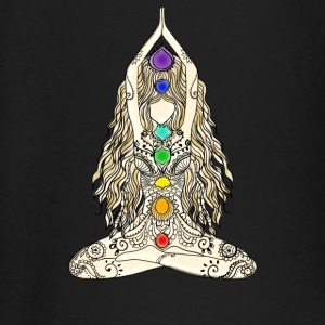 yoga woman 7 chakras lotusbuddha meditation Namast - Baby Long Sleeve T-Shirt
