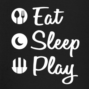 Eat Sleep Piano - Langarmet baby-T-skjorte