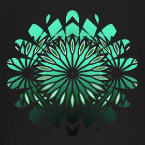 abstract green flower - Baby Long Sleeve T-Shirt