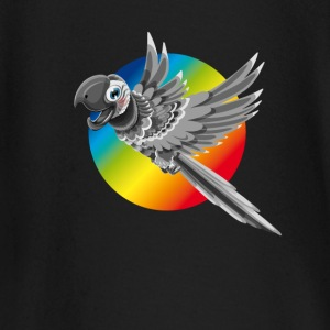 Parrot colorful flying color rainbow children comic - Baby Long Sleeve T-Shirt