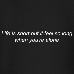 Life is Long When You're Alone (white) - T-shirt manches longues Bébé