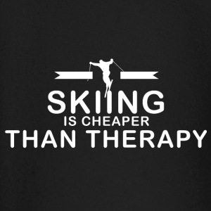 Skiing is cheaper than therapy - Baby Long Sleeve T-Shirt