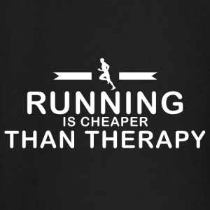 Running is cheaper than therapy - Baby Long Sleeve T-Shirt