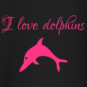 Delfin pink I love dolphins - Baby Long Sleeve T-Shirt