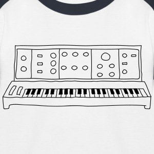 analog synthesizer - Baseball-T-skjorte for barn