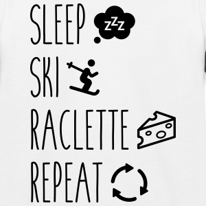 Slaap rakel ski repeat - Kinderen baseball T-shirt