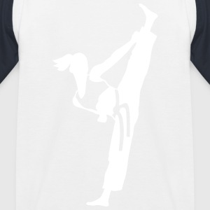Female martial artist - Kids' Baseball T-Shirt