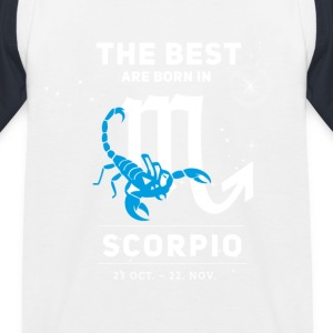 scorpion October astrology horoscope birthday bo - Kids' Baseball T-Shirt