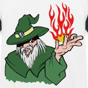 Willenskraft Wizard Grün / Rot Flamme - Kein Text - Kinder Baseball T-Shirt