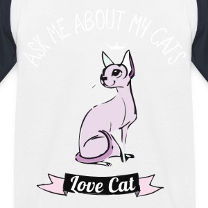 amour de chat me poser des questions sur MA chats girlie rose - T-shirt baseball Enfant