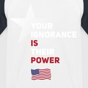 power Amerika star political statement Spruch fahn - Kinder Baseball T-Shirt