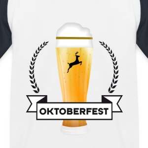 october-beer fan Bayern celebrate party drink gesch - Kids' Baseball T-Shirt