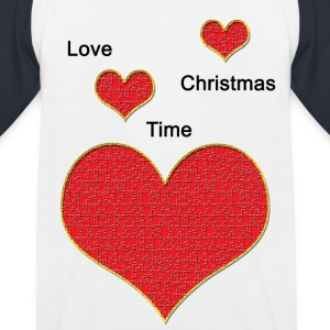Love_Christmas - Kinderen baseball T-shirt