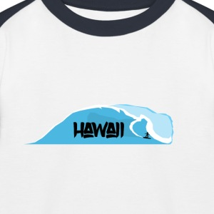 waves Hawaii - Kids' Baseball T-Shirt