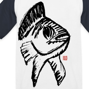 Koi Lucky Charm - Kids' Baseball T-Shirt