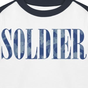 Soldier Camouflage - Baseball-T-skjorte for barn