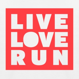 Live Love Run - Baseboll-T-shirt barn
