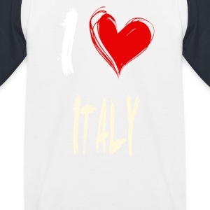I love italy - Kids' Baseball T-Shirt