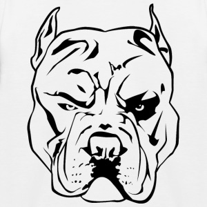 Aggressive Pitbull - Kids' Baseball T-Shirt
