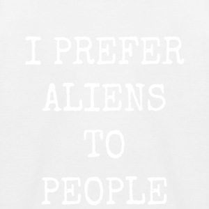 I PREFER ALIENS TO PEOPLE - Kids' Baseball T-Shirt