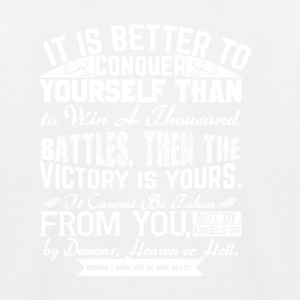 Conquer Yourself - Kinder Baseball T-Shirt