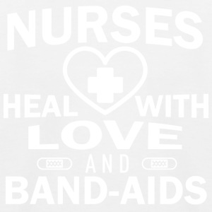 Nurses heal with love and plasters. - Kids' Baseball T-Shirt