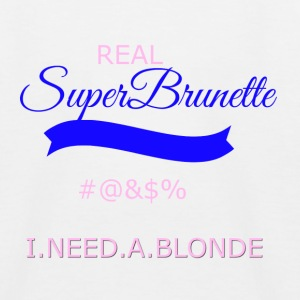 super brunette transparent - Kids' Baseball T-Shirt