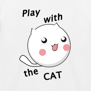 Play_Cat_Black - Kinderen baseball T-shirt
