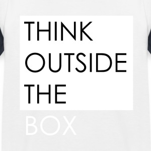 THINK OUTSIDE THE BOX - Kids' Baseball T-Shirt