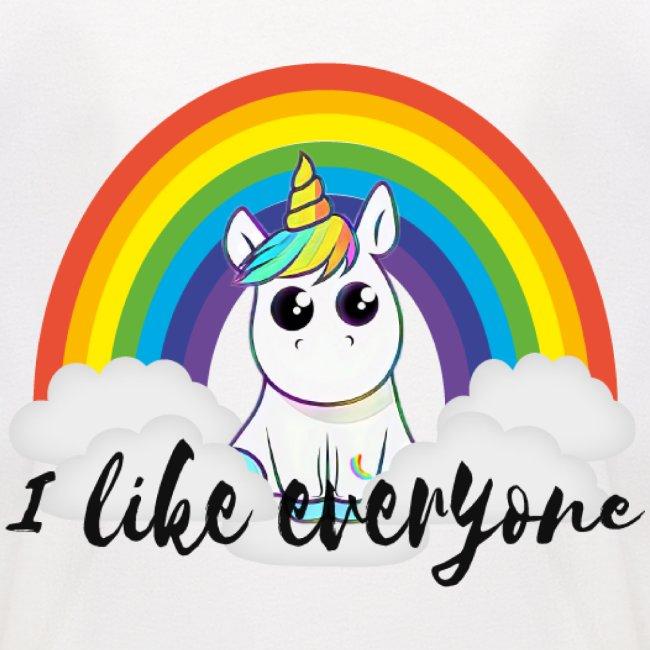 Unicorn i like everyone Mensch ist Mensch