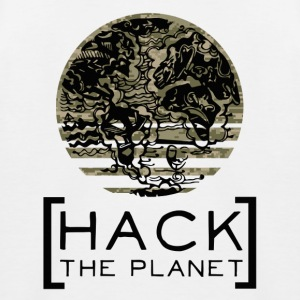 """Hack the planet"" motto T-shirt Camouflage - Kids' Baseball T-Shirt"