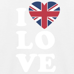 I love England - Kids' Baseball T-Shirt