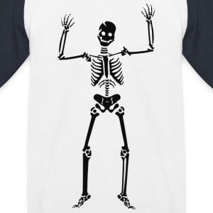 Happy Skeleton - Kids' Baseball T-Shirt