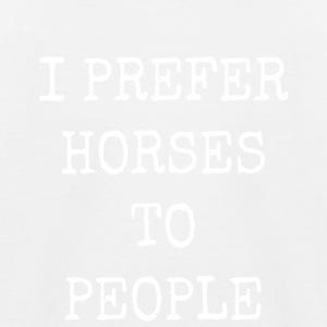 I prefer horses to people - Kids' Baseball T-Shirt