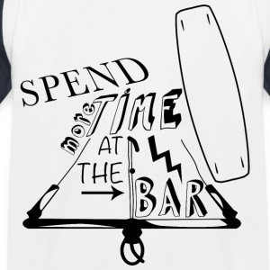 Spend more time at the bar - Kids' Baseball T-Shirt