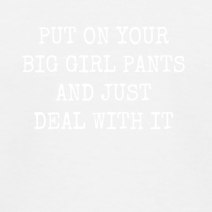 put on big girl pants - Kids' Baseball T-Shirt