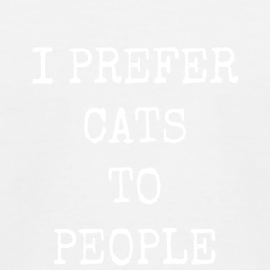 I prefer cats to people - Kids' Baseball T-Shirt