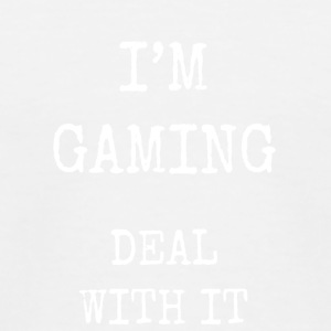 I'm gaming deal with it - Kids' Baseball T-Shirt