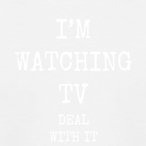 i'm watching tv deal with it - Kids' Baseball T-Shirt
