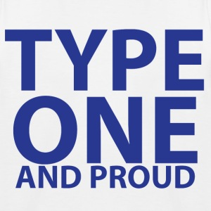 Type one and proud - Kids' Baseball T-Shirt